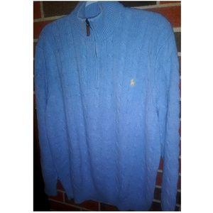 Polo by Ralph Lauren quarter zip 100%  Tussah silk